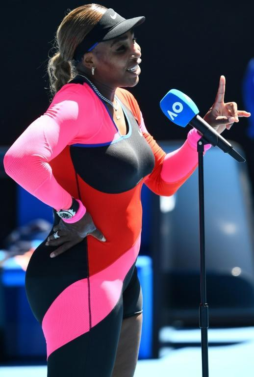 Tennis icon Serena Williams, seen here at the Australian Open in Melbourne on February 12 2021, has acted as an ambassador for feminist dating app Bumble