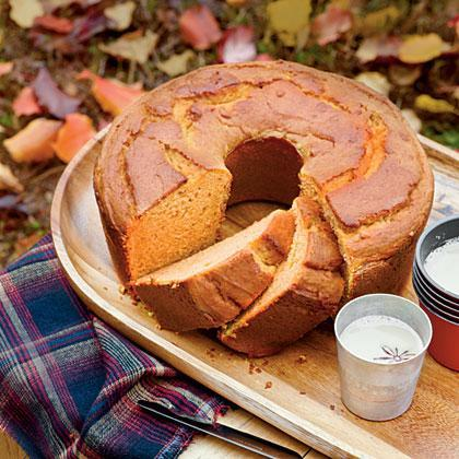"""<p><strong>Recipe: <a href=""""https://www.southernliving.com/syndication/sweet-potato-pound-cake-0"""" rel=""""nofollow noopener"""" target=""""_blank"""" data-ylk=""""slk:Sweet Potato Pound Cake"""" class=""""link rapid-noclick-resp"""">Sweet Potato Pound Cake</a></strong></p> <p>Mashed sweet potatoes and cream cheese make for a moist, tender fall cake perfect for your Thanksgiving table.</p>"""