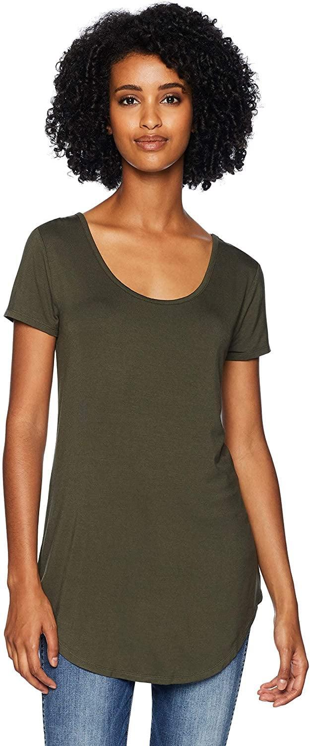 <p>Why not pair a <span>Daily Ritual Women's Jersey Short-Sleeve Scoop-Neck Longline T-Shirt</span> ($16) with your favorite leggings?</p>