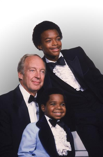 "FILE - This Sept. 13, 1981 file photo shows stars of the television show ""Different Strokes,"" clockwise from foreground, Gary Coleman, Conrad Bain and Todd Bridges at the Emmy Awards in Los Angeles. Bain, who starred as the kindly white adoptive father of two young African-American brothers in the TV sitcom ""Diff'rent Strokes,"" died of natural causes, Monday, Jan. 14, 2013, at his home in Livermore, Calif. He was 89. (AP Photo, file)"