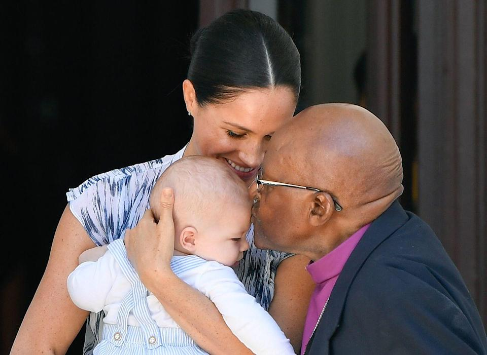 """<p>There's no rule around age here—if their parents are set to go on a royal tour, the kids will go too. Archie <a href=""""https://www.goodhousekeeping.com/life/entertainment/g29357349/meghan-and-harry-royal-tour-southern-africa/"""" rel=""""nofollow noopener"""" target=""""_blank"""" data-ylk=""""slk:joined his parents on their South African tour"""" class=""""link rapid-noclick-resp"""">joined his parents on their South African tour</a> at just four months old. </p>"""