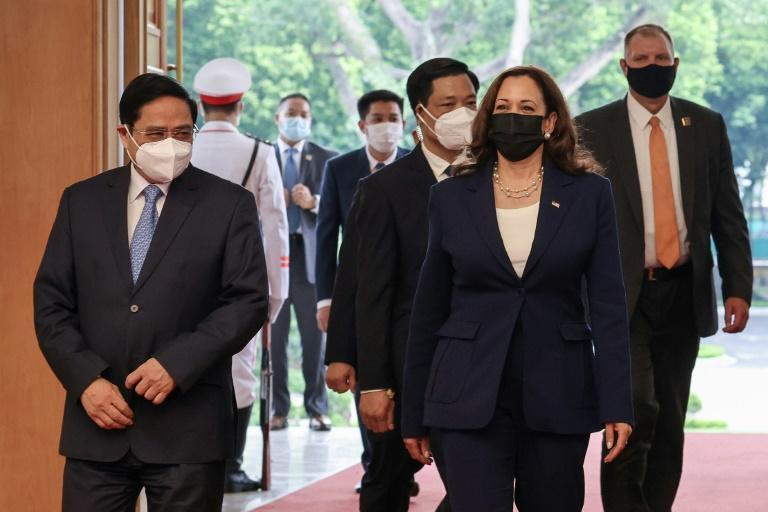 """US Vice President Kamala Harris delayed her arrival in Hanoi after reports that US diplomats in the Vietnam capital may have experienced the mysterious illness dubbed """"Havana Syndrome"""""""