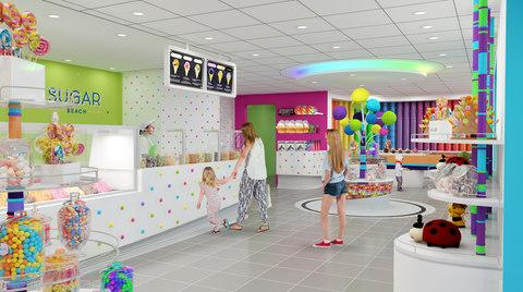 A rendering of Sugar Beach, a new sweet and ice cream shop