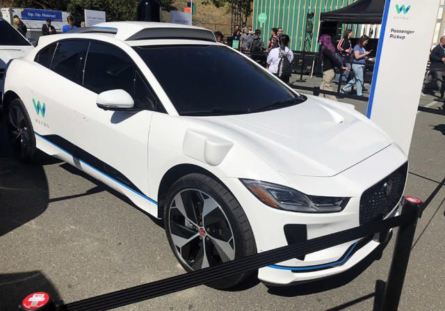 When you summon a Waymo self-driving taxi, this Jaguar will come to pick you up.