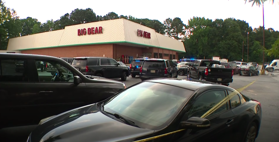 A cashier was killed and a DeKalb County retired deputy injured at a supermarket after a man opened fire over arguments about a mask (11Alive/Screengrab)