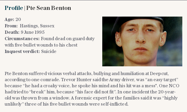 Profile | Pte Sean Benton