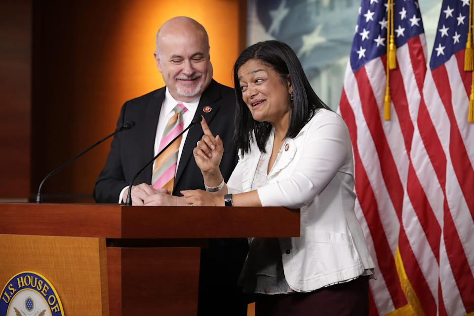 Reps. Pramila Jayapal, D-Wash., and Mark Pocan, D-Wis., are co-chairs of the Congressional Progressive Caucus.