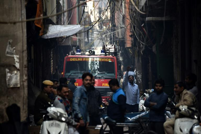 Firefighters battled for hours to put out the blaze in the narrow and congested lanes of Old Delhi