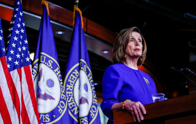 Pelosi says she will send Trump impeachment articles when she's ready