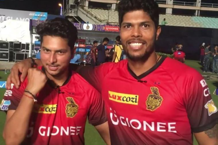 Kuldeep and Umesh - - Image Courtesy (BCCI/IPLT20.com)
