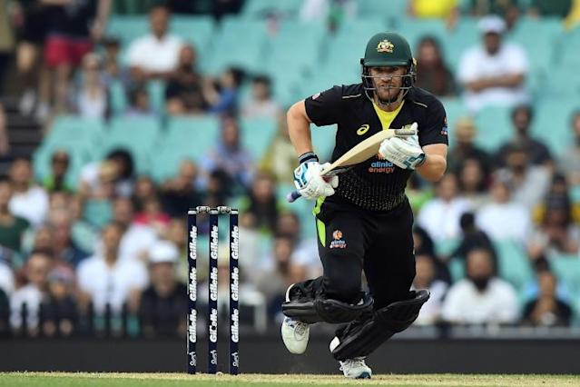 Australia's limited overs captain Aaron Finch is to skipper Hundred franchise The Northern Superchargers in the inaugural campaign (AFP Photo/Saeed KHAN)