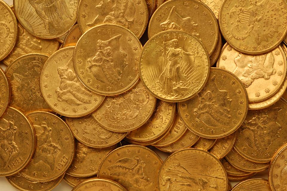 Gardeners are yet to discover anything as spectacular as the Hackney Hoard, the gold coins found in 2007 (The Portable Antiquities Scheme/British Museum/PA)