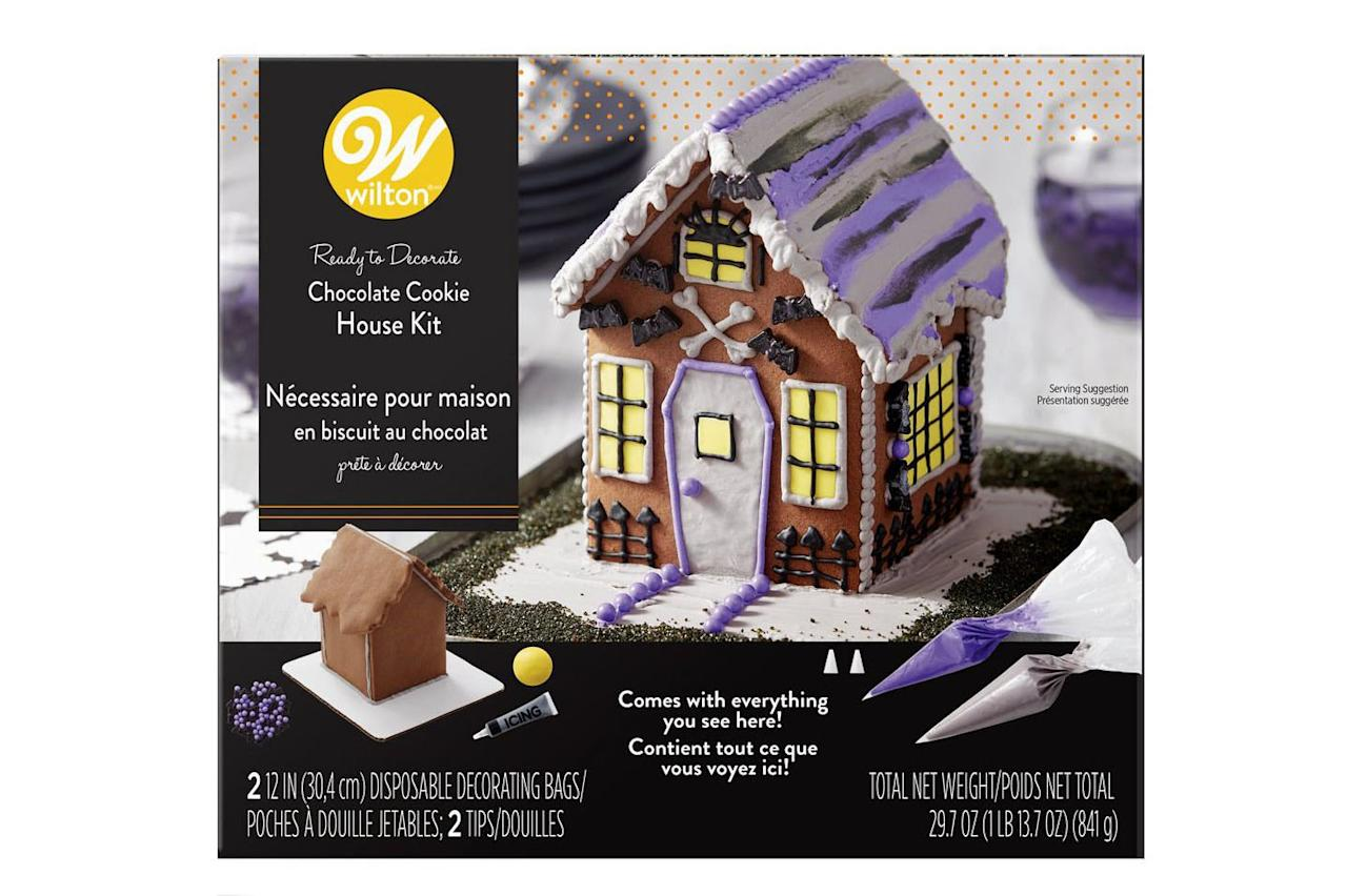 """<p><strong>BUY IT: $12.99; <em><a href=""""https://www.amazon.com/Wilton-2104-4343-Decorate-Halloween-Chocolate/dp/B07FHHSF5S/ref=pd_lpo_sbs_325_t_0?ie=UTF8&camp=1789&creative=9325&linkCode=as2&creativeASIN=B07FHHSF5S&tag=southlivin04-20&ascsubtag=d41d8cd98f00b204e9800998ecf8427e"""" target=""""_blank"""">amazon.com</a></em></strong></p> <p> If building isn't your kids' favorite part of the process, this cookie house comes out of the box already assembled so more time can be spent decorating the cookie house for Halloween instead of trying to make sure the walls don't fall down. </p>"""