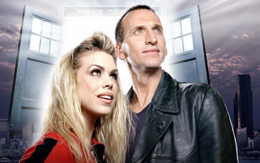 Billie Piper as Rose Tyler and Christopher Eccleston as the Doctor - BBC