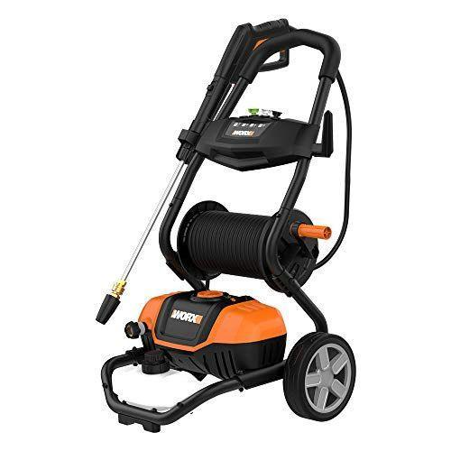 """<p><strong>WORX</strong></p><p>amazon.com</p><p><strong>$169.98</strong></p><p><a href=""""https://www.amazon.com/dp/B086HL9ZWS?tag=syn-yahoo-20&ascsubtag=%5Bartid%7C10055.g.33460230%5Bsrc%7Cyahoo-us"""" rel=""""nofollow noopener"""" target=""""_blank"""" data-ylk=""""slk:Shop Now"""" class=""""link rapid-noclick-resp"""">Shop Now</a></p><p>Don't let the streamlined designed fool you: The well-priced Worx electric pressure washer<strong> pumps out an impressive 1.93 GPM and a max PSI of 2,240.</strong> Those stats are up there with some pricey gas-powered pressure washers. Our testers praised the turbo nozzle for blasting away stuck-on grease and grime. Another nice convenience feature of the 36.3 pound machine is the onboard hose wheel, which makes it easy to manage the 25 feet of hose. </p>"""