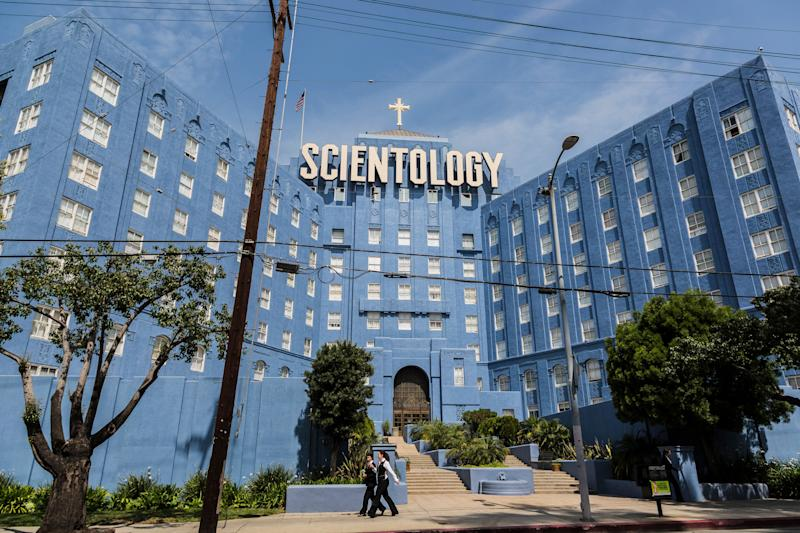 An archival photo shows a Church of Scientology building on Sunset Blvd. in Los Angeles. (Photo: Ted Soqui via Getty Images)