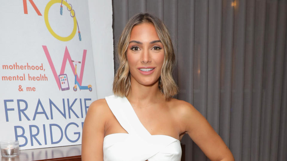 Frankie Bridge has revealed some of the anxieties she suffered as a first-time mother. (David M. Benett/Getty Images)