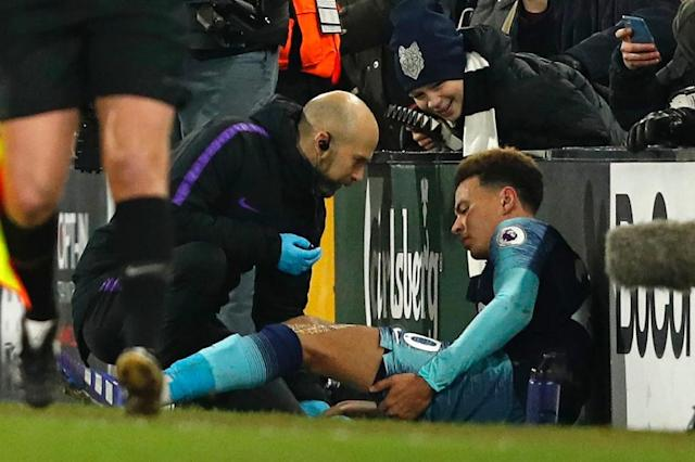 Tottenham's Dele Alli will be out until March with a hamstring injury (AFP Photo/Adrian DENNIS)
