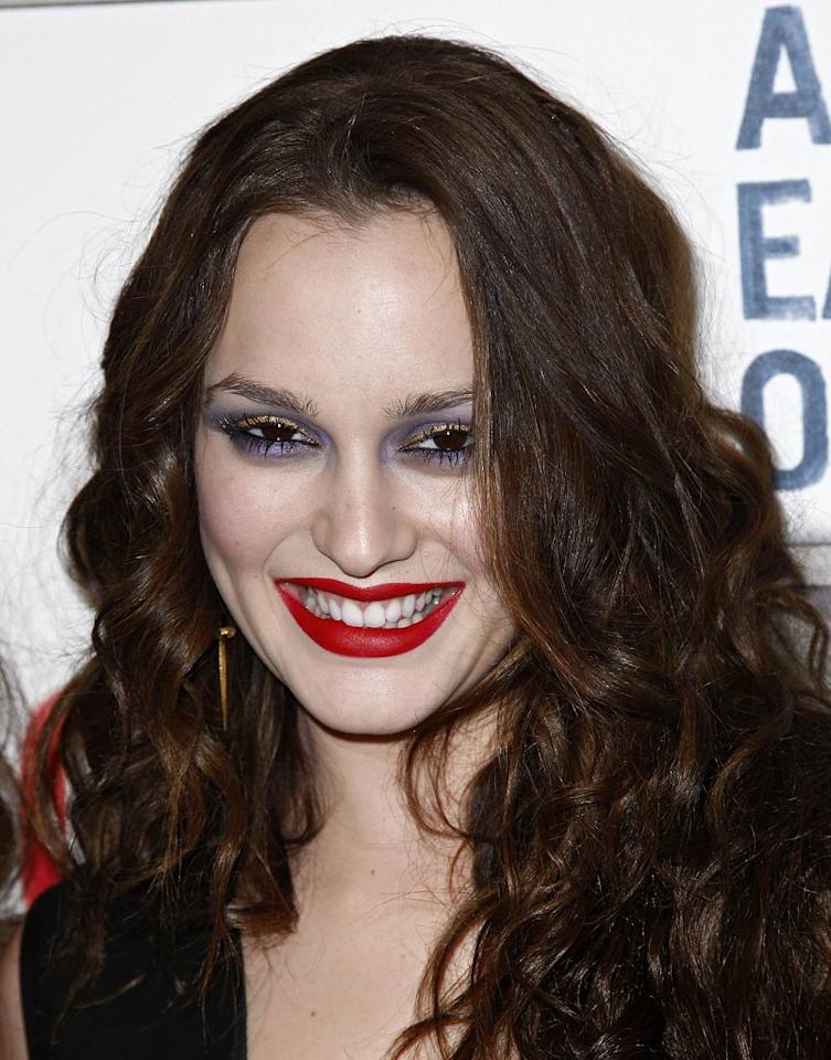 """Perhaps Leighton Meester's makeup artist was playing a trick on her post Halloween. If not, there's simply no excuse for this Joker-like look. Brian Ach/<a href=""""http://www.wireimage.com"""" target=""""new"""">WireImage.com</a> - November 17, 2009"""