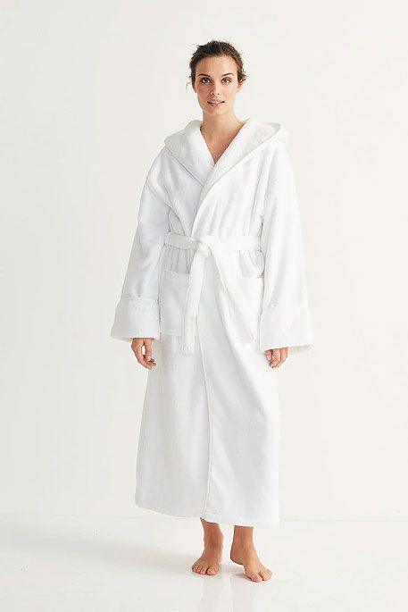 """<p><strong>The White Company</strong></p><p>thewhitecompany.com</p><p><strong>$109.00</strong></p><p><a href=""""https://go.redirectingat.com?id=74968X1596630&url=https%3A%2F%2Fwww.thewhitecompany.com%2Fus%2FUnisex-Hydrocotton-Hooded-Robe%2Fp%2FLHCHR%3Fswatch%3DWhite&sref=https%3A%2F%2Fwww.goodhousekeeping.com%2Fclothing%2Fg28350294%2Fbest-bathrobes-for-women%2F"""" rel=""""nofollow noopener"""" target=""""_blank"""" data-ylk=""""slk:Shop Now"""" class=""""link rapid-noclick-resp"""">Shop Now</a></p><p>This pick from The White Company includes a hood for an extra cozy feeling, which is <strong>especially great if you want to quickly dry wet hair</strong> after the shower. The fabric is cotton designed with a low twist for a thicker, higher-quality feel. This robe is on the longer side compared to other styles because it's unisex.</p>"""