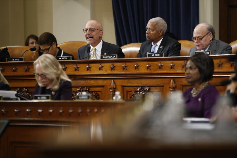 Rep. Ted Deutch, D-Fla., gives his opening statement during a House Judiciary Committee markup of the articles of impeachment against President Donald Trump, Wednesday, Dec. 11, 2019, on Capitol Hill in Washington. (AP Photo/Patrick Semansky)