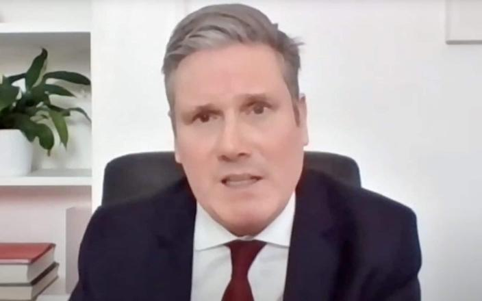 Sir Keir Starmer appearing remotely at PMQs because he is self isolating