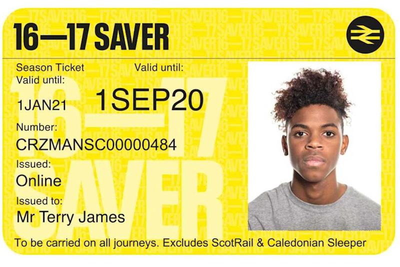 The new 16-17 Saver railcard (PA)