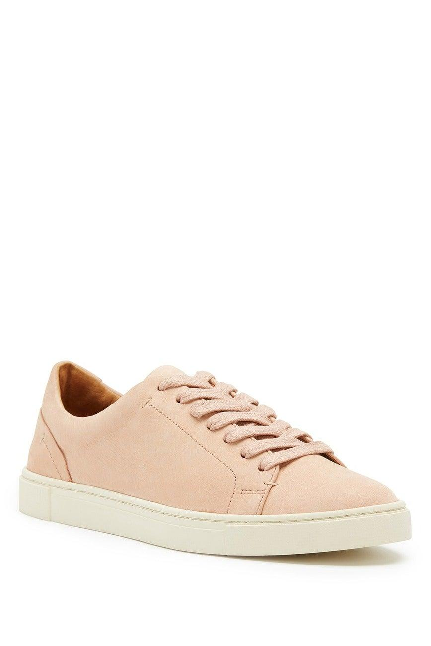 "<br><br><strong>Frye</strong> Ivy Low Top Leather Sneaker, $, available at <a href=""https://go.skimresources.com/?id=30283X879131&url=https%3A%2F%2Fwww.nordstromrack.com%2Fshop%2Fproduct%2F3169274%2Ffrye-ivy-low-top-leather-sneaker%3Fcolor%3DBLUSH"" rel=""nofollow noopener"" target=""_blank"" data-ylk=""slk:Nordstrom Rack"" class=""link rapid-noclick-resp"">Nordstrom Rack</a>"