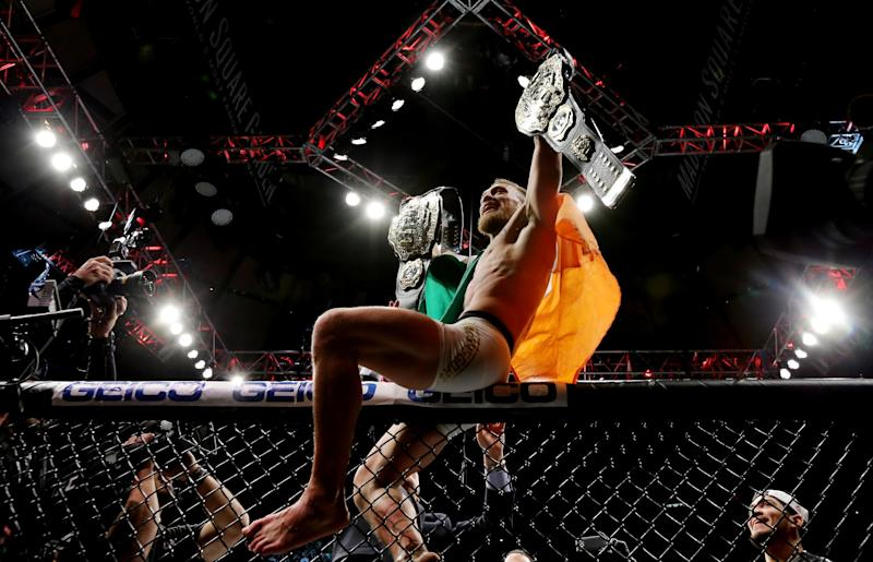 McGregor became the UFC' first ever double champion in 2016 Photo: Getty Images