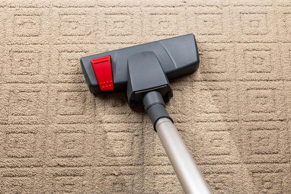 """While you might want to vacuum up a stain before it sets into your carpet, doing so is actually a pretty risky move. """"Not only are you risking malfunctions, [you risk] having to deal with a mold problem as a result of trapping the water inside the machine,"""" says<strong> Marieta Ivanova</strong>, a home improvement expert with <a href=""""https://fantasticcleaners.com.au/brisbane/"""" rel=""""nofollow noopener"""" target=""""_blank"""" data-ylk=""""slk:Fantastic Cleaners"""" class=""""link rapid-noclick-resp"""">Fantastic Cleaners</a> in Brisbane, Australia."""