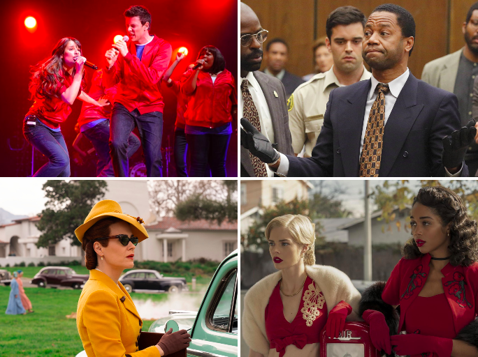 Clockwise from top left: 'Glee', 'The People v OJ Simpson', 'Ratched' and 'Hollywood' (Netflix, FX, FOX)