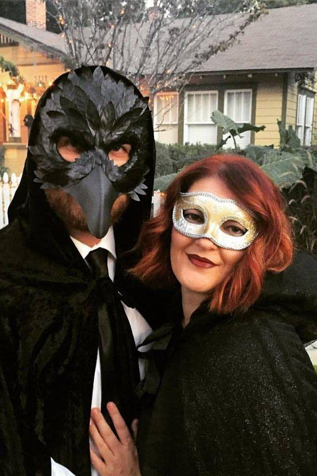 """<p>Be the most mysterious couple in the room with costumes reminiscent of <em><a href=""""https://www.amazon.com/Fifty-Shades-Darker-Dakota-Johnson/dp/B06ZY7S127/?tag=syn-yahoo-20&ascsubtag=%5Bartid%7C10055.g.2625%5Bsrc%7Cyahoo-us"""" rel=""""nofollow noopener"""" target=""""_blank"""" data-ylk=""""slk:Fifty Shades Darker"""" class=""""link rapid-noclick-resp"""">Fifty Shades Darker</a>.</em> Just put on a mask and call it a day. </p><p><a class=""""link rapid-noclick-resp"""" href=""""https://www.amazon.com/Masquerade-Mask-Couples-Women-Men/dp/B07C19R2LW/?tag=syn-yahoo-20&ascsubtag=%5Bartid%7C10055.g.2625%5Bsrc%7Cyahoo-us"""" rel=""""nofollow noopener"""" target=""""_blank"""" data-ylk=""""slk:SHOP MASQUERADE MASKS"""">SHOP MASQUERADE MASKS</a> </p>"""