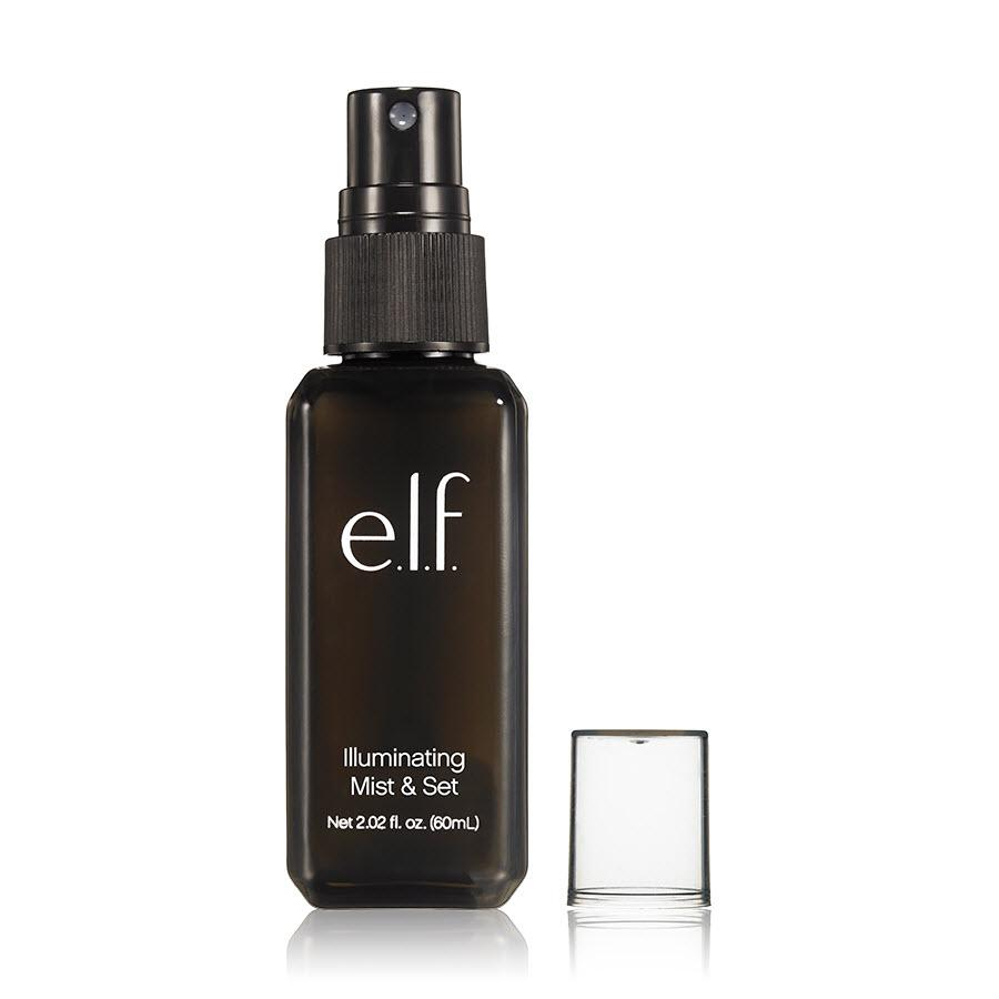 """<p>Not only is makeup locked in place thanks to this setting spray, but it also has light-reflecting particles, so once you spritz, your face will glow. $4, <a rel=""""nofollow"""" href=""""http://www.elfcosmetics.com/p/illuminating-mist--set"""">e.l.f. Cosmetics</a> </p>"""