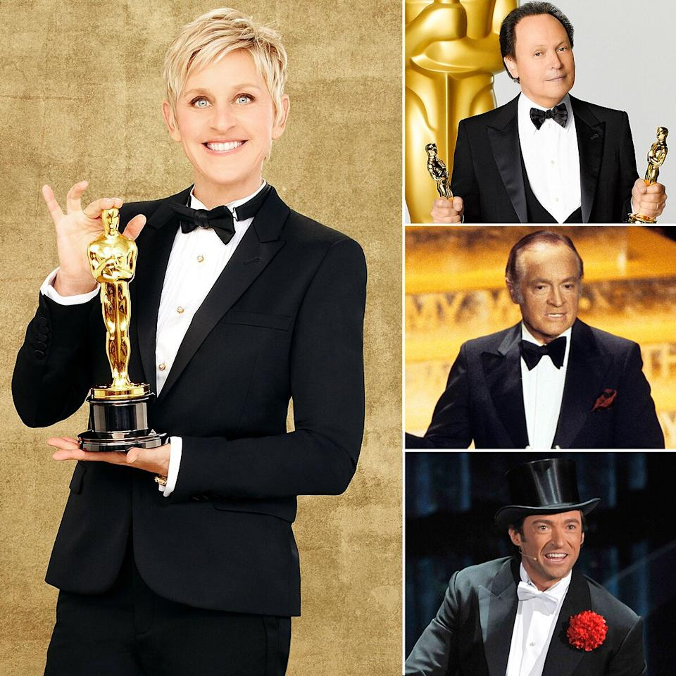 "According to your votes, the Oscars host with the most was Ellen DeGeneres (<a href=""https://www.youtube.com/watch?v=GsSWj51uGnI"">who could forget this selfie moment</a>?), who had a mic-drop moment over former hosts Billy Crystal, Bob Hope and Hugh Jackman."