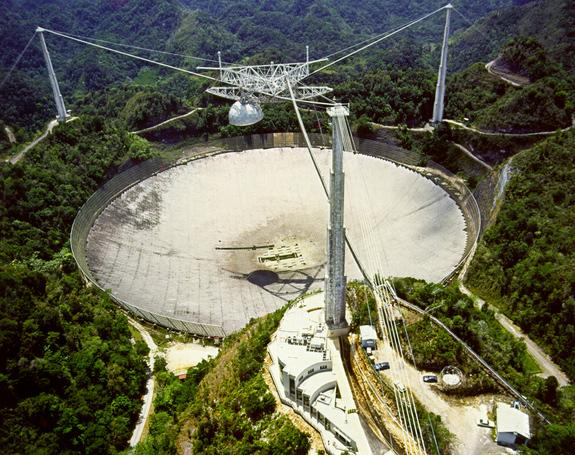 SETI uses the Arecibo's 305-meter telescope — the largest in the world — to scan the sky for signals from alien civilizations all year round.
