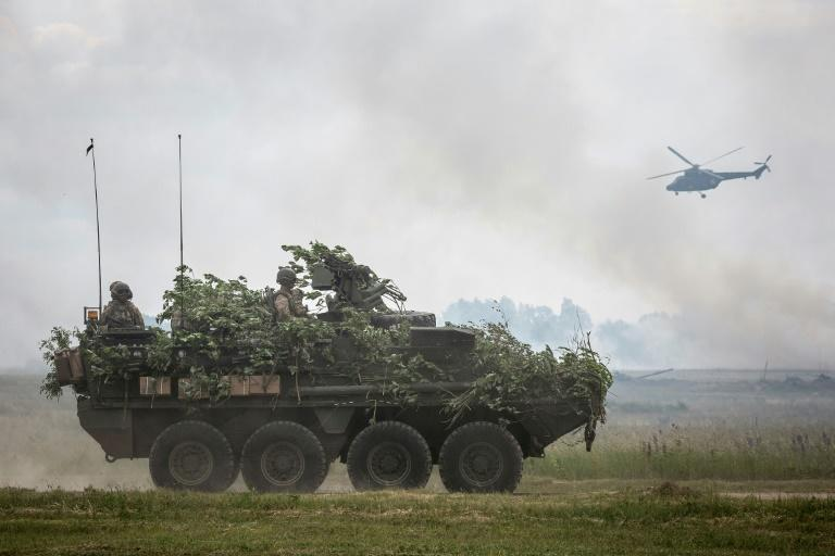 NATO troops during Saber Strike military exercises in Poland in 2017