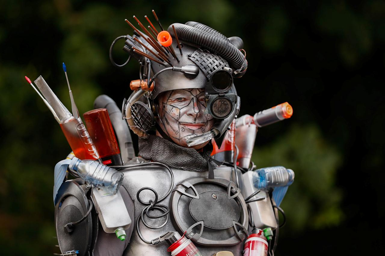"<p>An artist called ""The Trashformer"" takes part in the festival ""Statues en Marche"" in Marche-en-Famenne, Belgium, July 22, 2018. (Photo: Yves Herman/Reuters) </p>"
