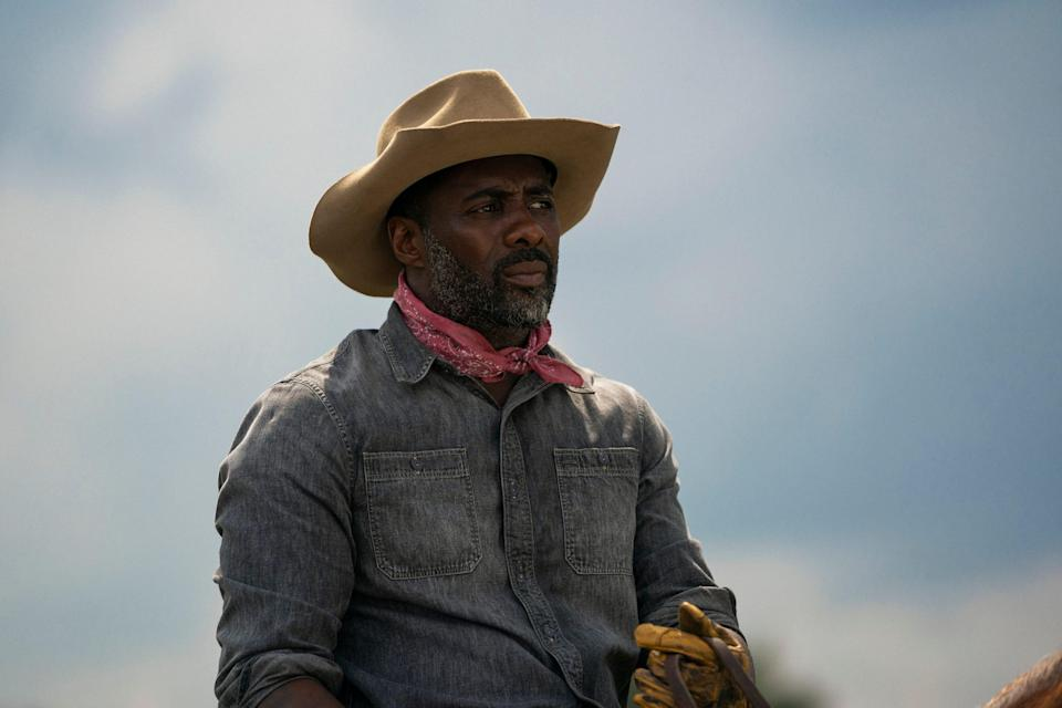 """Idris Elba stars as an urban horse rider in Philadelphia who learns to be a dad in """"Concrete Cowboy."""""""