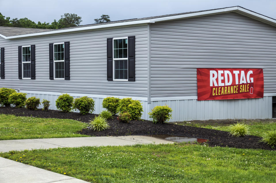 Virginia, Fredericksburg, Clayton Homes, modular homes for sale, red tag clearance. (Photo by: Jeffrey Greenberg/Universal Images Group via Getty Images)