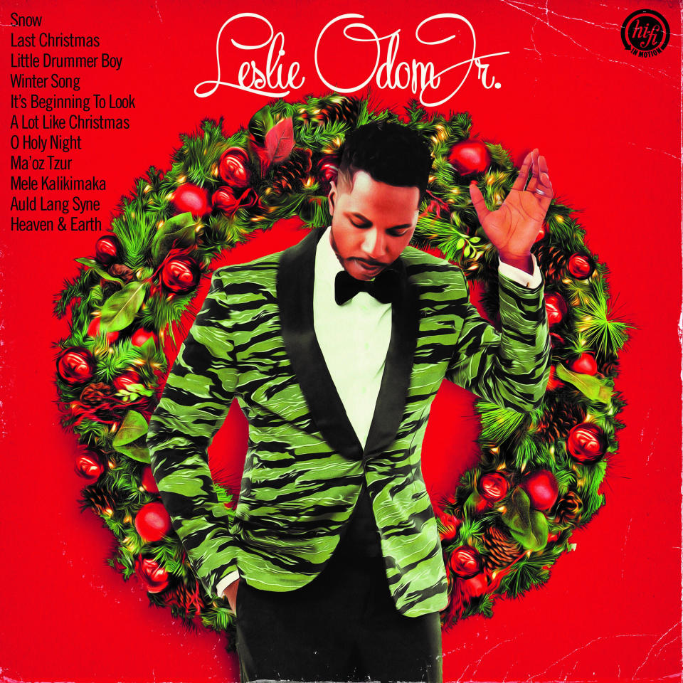 """This cover image released by S-Curve Records/BMG shows """"The Christmas Album"""" by Leslie Odom Jr. (S-Curve Records/BMG via AP)"""