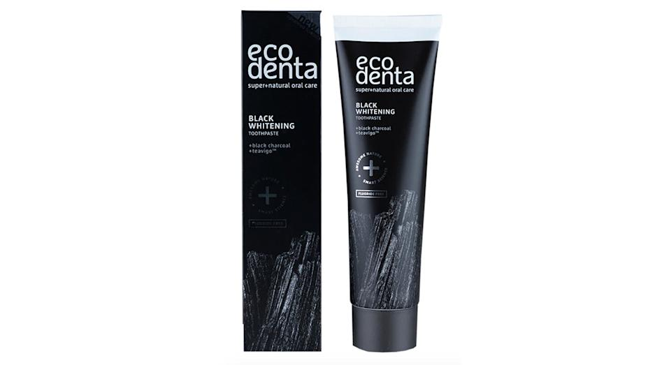 Ecodenta Extra Black Whitening Toothpaste with Black Charcoal & Teavigo