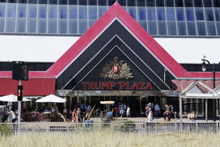 Trump Plaza Hotel and Casino is seen from the beach in Atlantic City, New Jersey September 1, 2014. REUTERS/Tom Mihalek