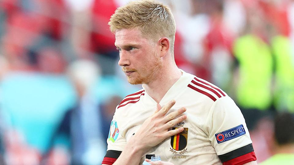 Seen here, Kevin De Bruyne in action for Belgium at Euro 2020.