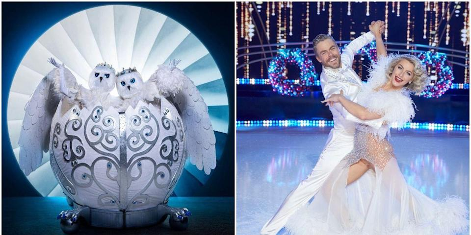 'Masked Singer' Fans Are *Convinced* the Snow Owls Are Julianne and Derek Hough