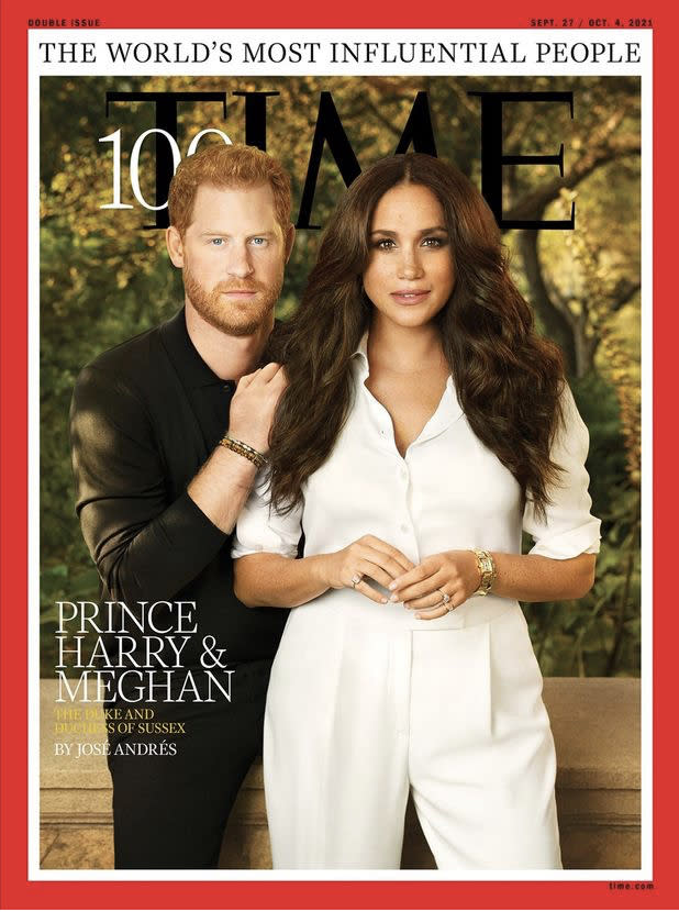 TIME Magazine chose the royal couple as the world's top influencers. (TIME)