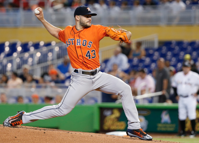"More <a class=""link rapid-noclick-resp"" href=""/mlb/players/9575/"" data-ylk=""slk:Lance McCullers"">Lance McCullers</a> talk (AP)"