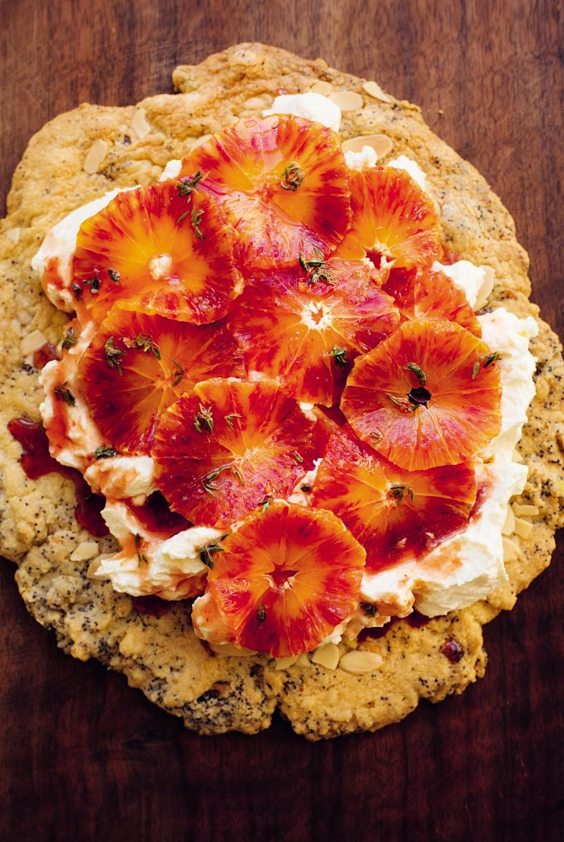 Yum and yum: Nigel Slater's blood orange shortbread (Jonathan Lovekin)