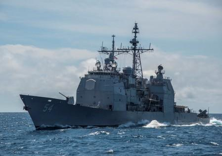 U.S. warship sails through Taiwan Strait, stirs tensions with  China