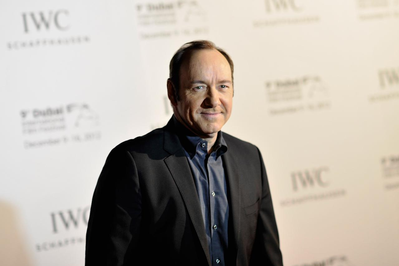 DUBAI, UNITED ARAB EMIRATES - DECEMBER 10:  Actor Kevin Spacey attends the Dubai International Film Festival and IWC Schaffhausen Filmmaker Award Gala Dinner and Ceremony at the One and Only Mirage Hotel on December 10, 2012 in Dubai, United Arab Emirates.  (Photo by Gareth Cattermole/Getty Images for DIFF)