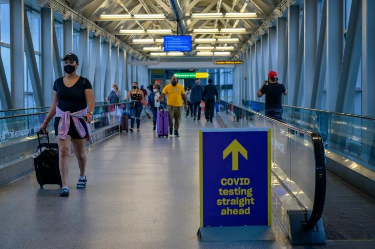 John F. Kennedy International Airport in New York: deespite the spread of vaccines, Europeans and other foreign nationals are still tightly restricted from entering the United States due to the Covid-19 pandemic